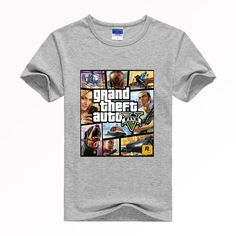 c368aba9cd89 GRAND THEFT AUTO V GTA Poster Style Shirt