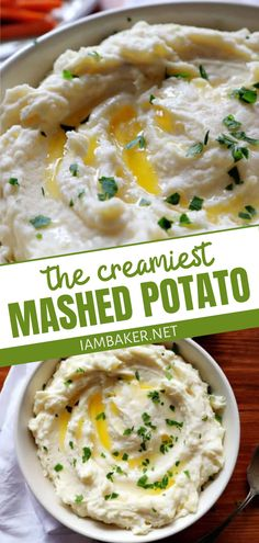 Velvety, silky, smooth, and decadent, this mashed potato is the perfect Thanksgiving side dish! It is a quick and easy recipe made with just a few ingredients. Make this 5 -star quality restaurant side dish for parties, potlucks, or even dinners at home! Mashed Potato Recipes, Creamy Mashed Potatoes, Party Side Dishes, I Am Baker, Thanksgiving Side Dishes, Potlucks, Yummy Eats, Restaurant Recipes, Turkey Recipes