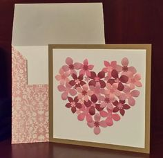 By Bailey.......FLORAL HEART HANDMADE CARD.