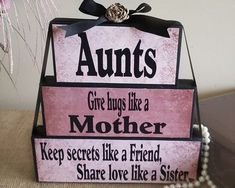 Aunt Birthday Gift, Mother's Day Gift for Aunt, Only An Aunt Give Hugs Like A Mother Keep Secret Like A Friend Share Love Like A Sister - Gifts for Aunts Sister Gift Auntie Gift Only by TimelessNotion - Birthday Quotes For Aunt, Aunt Birthday, Mother Birthday Gifts, Diy Mothers Day Gifts, Mother Day Gifts, Christmas Birthday, Happy Mothers Day Sister, Birthday Crafts, Auntie Gifts