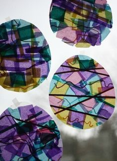 Stained Glass Easter Eggs- so easy, and so cute!