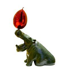 Hippo et Ballon Rouge, Bronze