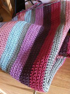 Lovely crochet blanket in gorgeous colours.