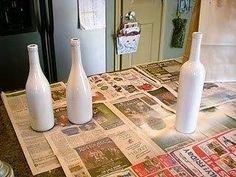 DIY - Weihnachtsdeko aus Flaschen & Salz.