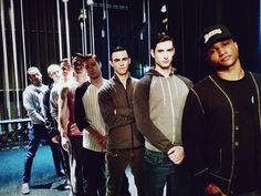 Rehearsal pic. Photo Credit: @DarrenCriss   Warbler/New-New Directions waiting in the wings to rehearse #Rise.