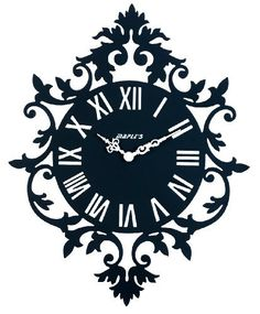 Maple's Rococo Silhouette Metal Wall Clock, Black by Maple's, http://www.amazon.com/dp/B009KZWNZG/ref=cm_sw_r_pi_dp_QR6Jrb1FT1M2F