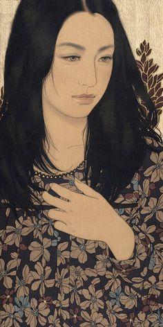 'Mami' 2012. Ikenaga Yasunari. Linen Canvas / Mineral pigments