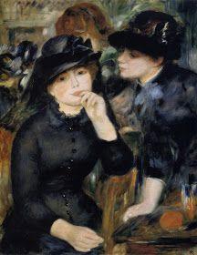 Painting by Pierre-Auguste Renoir Girls in Black, 1880