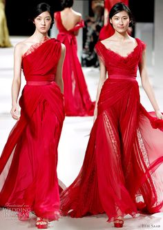 Elie Saab Haute Couture Spring/Summer 2011 - red evening dress bridal gown inspiration from the runway