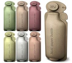 360 Paper Bottle – The recycled paper bottle, highly biodegradable.