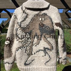 This is the intarsia charts for the images on the Salish Garden Sweater. This is not a sweater pattern. I recommend you look at the Design your own