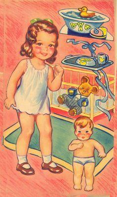 Kathleen Taylor's Dakota Dreams: Thursday Tab- Lowe Janie and her Doll, 1944