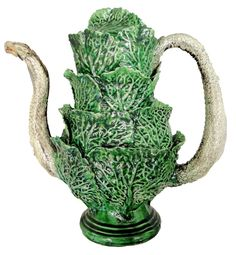 Palissy Cabbage & Snake Coffee Pot