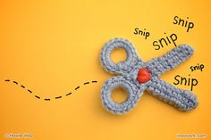 Crocheted scissors. Not a pattern, but has some notes from the creator.