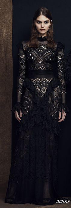 zuhair-murad-pre-fall-2018_vogue-runway Zuhair Murad 2018, Edwardian Dress, Friend Outfits, Beautiful Clothes, Couture Dresses, Fall 2018, Designer Wear, New Dress, All Black