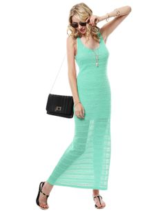 Crochet Lace Maxi Dress With Side Slits #11foxy