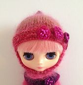 Ravelry: Helmet hat for Blythe and Middie Blythe doll pattern by Jane Pierrepont
