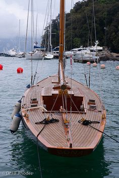 A beautiful wooden yacht, Portofino, Italy