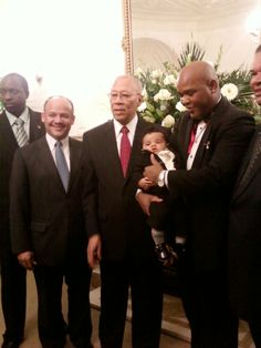 Governor General of The Bahamas welcomes newest Bahamian Samuel A Sweeting - Hill
