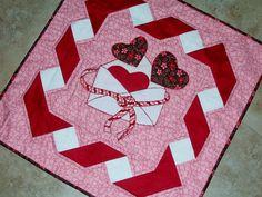 ÊTRE MINE Valentine courtepointe patron de Quilts de Tenture murale Elena