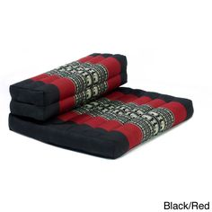 myZENhome Dhyana Cotton/Kapok Mindfulness Meditation Cushion and Chair (Black/Red) Easy Meditation, Meditation Cushion, Meditation Space, Meditation Stool, Mindfulness Meditation, Floor Pillows Kids, Floor Cushions, Zen, Meditation Techniques