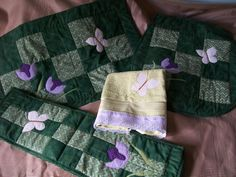 jogo banheiro patchwork tulipas 4 peças | Meu Cantinho artesanato | Elo7