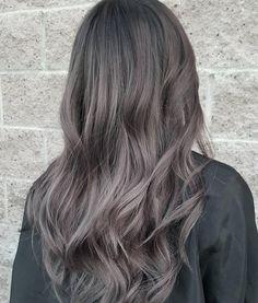 Ash Gray Hair Color, Grey Brown Hair, Hair Color 2017, Brown Hair Colors, Hair Colour, Dark Grey Hair Charcoal, Ash Blue Hair, Cool Tone Brown Hair, Medium Ash Brown Hair