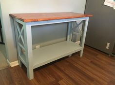 A simple Rustic Style console table. I built this using 1