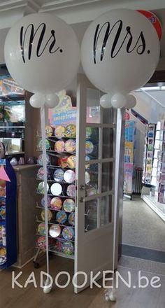 Mr&Mrs ballonnen, heliumballon, grote ronde ballonnen, custom made