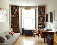 Always make books a feature of every room.