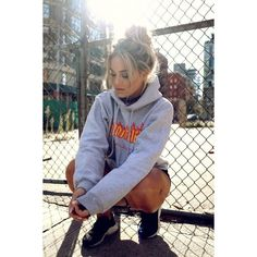 Thrasher hoodie Fanny Lyckman ❤ liked on Polyvore featuring tops, hoodies, hooded pullover, sweatshirt hoodies, hooded sweatshirt and hoodie top