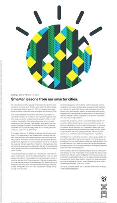 Smarter Cities- smarter technology and efficient planning helps cities effectively coordinate with departments and communities