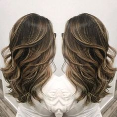 Beautiful sombre ash blonde highlighting on cool light brunette hair color by Janai Hartt hotonbeauty.com
