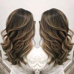 Beautiful sombre  ash blonde highlighting on cool light brunette hair color by Janai Hartt hotonbeauty.com