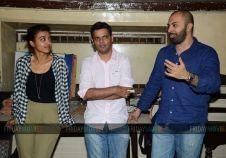 Ritesh Batra and Radhika Apte in an interactive session at Irani Cafe