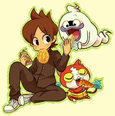 Yo-Kai Watch | Nate (Keita), Whisper, and Jibanyan