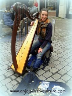 Busker with Irish harp on the streets of Galway City, Ireland. Click on the photo to see it on our Facebook page alongside many other beautiful Ireland photos.