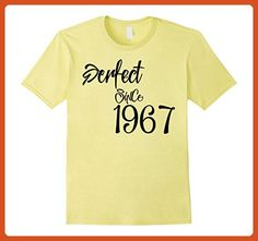 Mens Happy 1967 It's My 50th Birthday Gift Ideas tshirts Large Lemon - Birthday shirts (*Partner-Link)