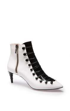 new product e6cc6 f53eb bally shoes boots Black And White Ankle Boots