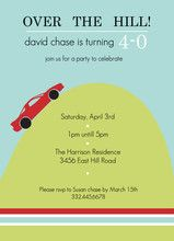 Cute And Cheap Invite For An Over The Hill Birthday Party Adultbirthday Budgetparty