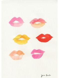 Watercolor lip