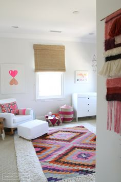 Spotlight on Layered Rugs Design Trend! Tons of design inspiration & examples of how to use layered rugs in any room in your home to add texture and style. Nursery Design, Nursery Decor, Bedroom Decor, Girl Nursery, Nursery Rugs, Room Rugs, Baby Boy Rooms, Little Girl Rooms, Amber Interiors