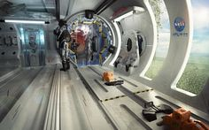 ArtStation - Abandoned section of a space ship., Daniele Trevisan