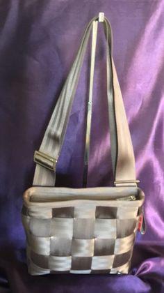 Harvey's Original Seatbelt Crossbody Bag Purse Mercedes Benz Taupe Brown RARE!    eBay