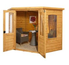 7x7 cranbourne corner summerhouse uk shopgarden shedsshiplap timber - Corner Garden Sheds 7x7