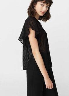 Фактурная блузка с крылышками