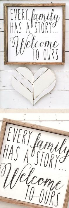 Neat Every Family Has a Story.. Welcome to Ours home decor, farmhouse decor, family decor, gift idea, farmhouse wall art, rustic decor, rustic farmhouse, modern farmhouse ..