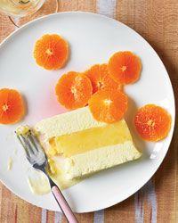 Vanilla Semifreddo and Orange Sorbet Terrine