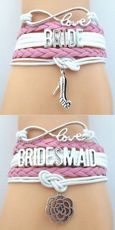 Show off the Bridal Wedding Party with these premium Infinity Love hand-made Braided Leather Bracelets! Don't Miss our Sales Event. Makes a great wedding gift for the Bridesmaid or Maid of Honor. Bridesmaid Proposal, Wedding Bridesmaids, Bridesmaid Gifts, Great Wedding Gifts, Our Wedding, Dream Wedding, Wedding Rings, Yacht Wedding, Cruise Wedding