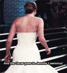 How did these two win the Hunger Games!!?? Jennifer Lawrence and Josh Hutcherson tripping. Watch the GIF